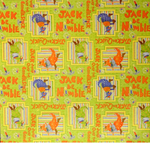 DCWV Jack Be Nimble Nursery Rhymes Cardstock Scrapbook Paper - SCRAPBOOKFARE