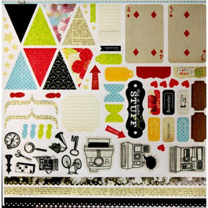 DCWV Mixed Nostalgique Heat Embossed Cardstock Die-Cuts Cut-Outs - SCRAPBOOKFARE