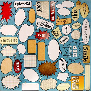 DCWV Signs & Sayings Cardstock Die-Cuts Cut-Outs - SCRAPBOOKFARE