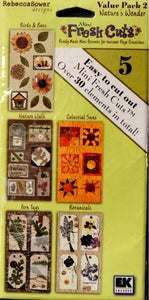 EK Success Rebecca Sower Designs Mini Fresh Cuts Nature's Wonder Value Pack 2 Die-Cut Embellishments - SCRAPBOOKFARE