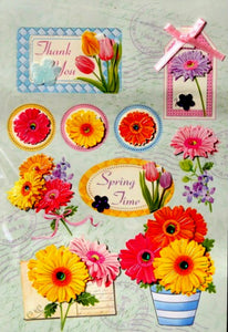 Special Moments Beautiful Bling Gem Flowers Dimensional Scrapbook Stickers