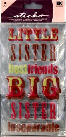 EK Success Sticko Big Sister Epoxy Stickers - SCRAPBOOKFARE