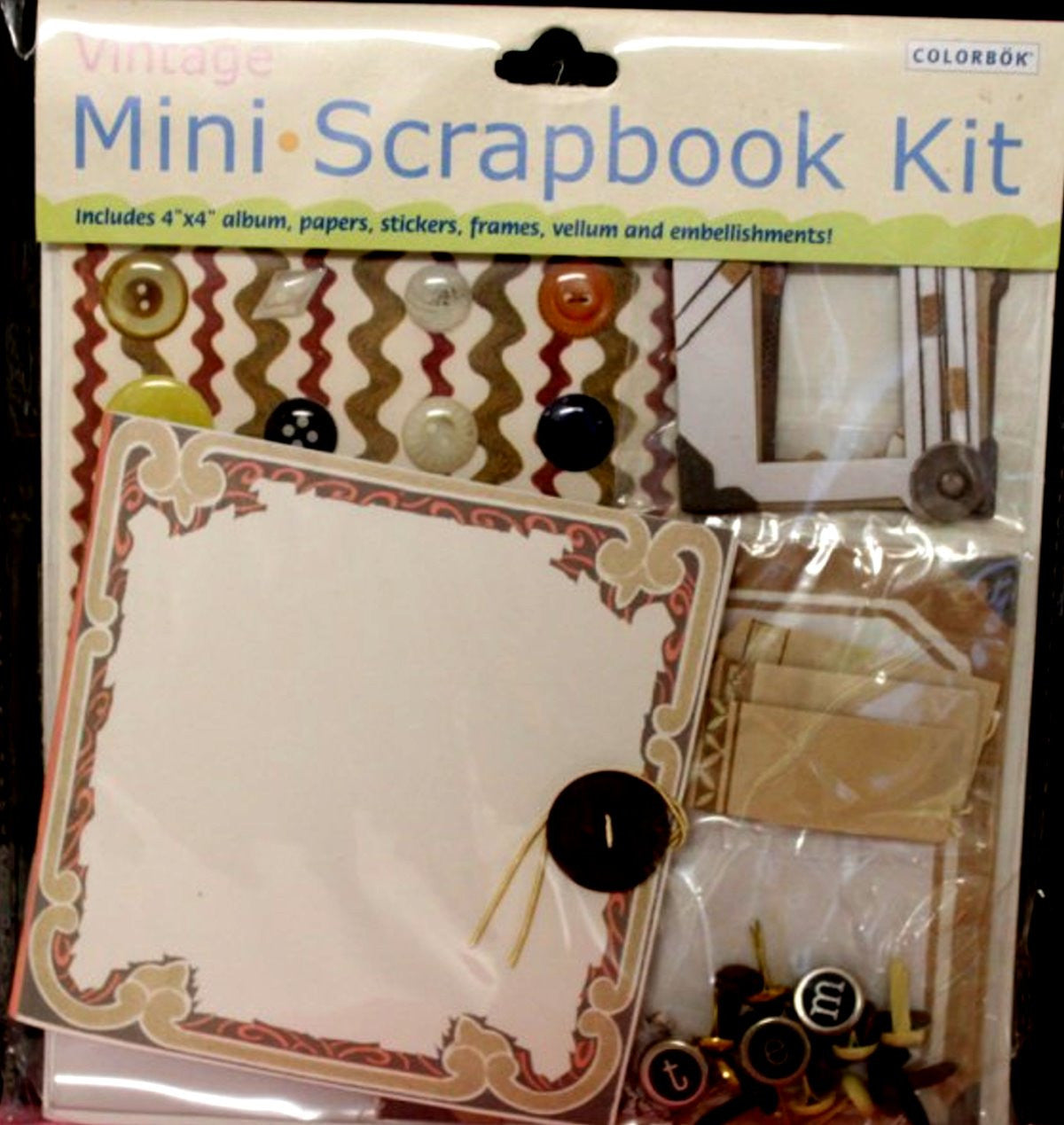 Colorbok Vintage Mini Scrapbook Kit - SCRAPBOOKFARE