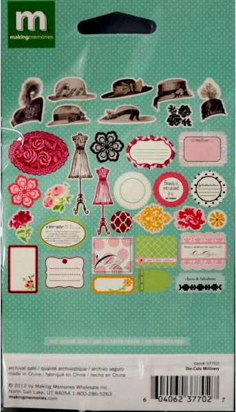 Making Memories Modern Millinery Die-Cut Accents Embellishments - SCRAPBOOKFARE