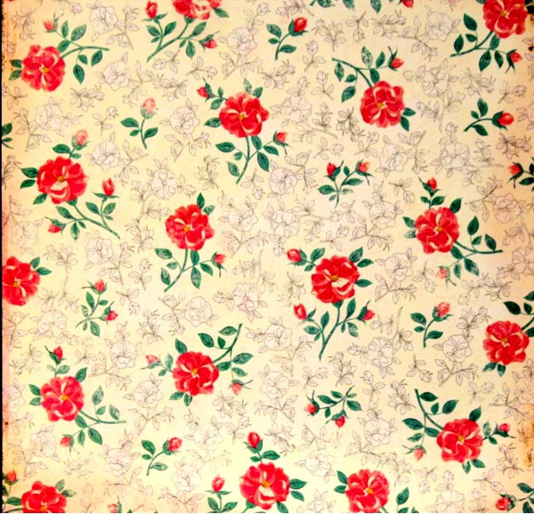 Crate Paper Maggie Holmes Antique Roses Flat Designer Medium Weight Scrapbook Paper - SCRAPBOOKFARE