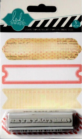 Heidi Swapp Birthday Sentiments Stickers And Rubber Stamp set - SCRAPBOOKFARE