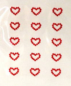 Special Moments Red Heart Gem Embellishments Stickers