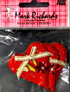 Mark Richards Collection Handmade Dimensional Hearts Stickers - SCRAPBOOKFARE