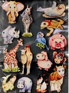 Special Moments Dimensional Bling Animals Chipboard Embellishments Stickers