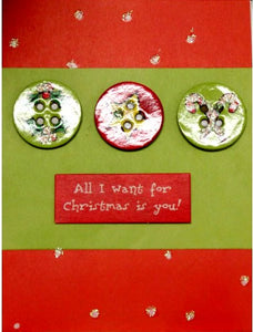 Scrapbookfare Christmas All I Want For Christmas Handmade Dimensional Greeting Card - SCRAPBOOKFARE