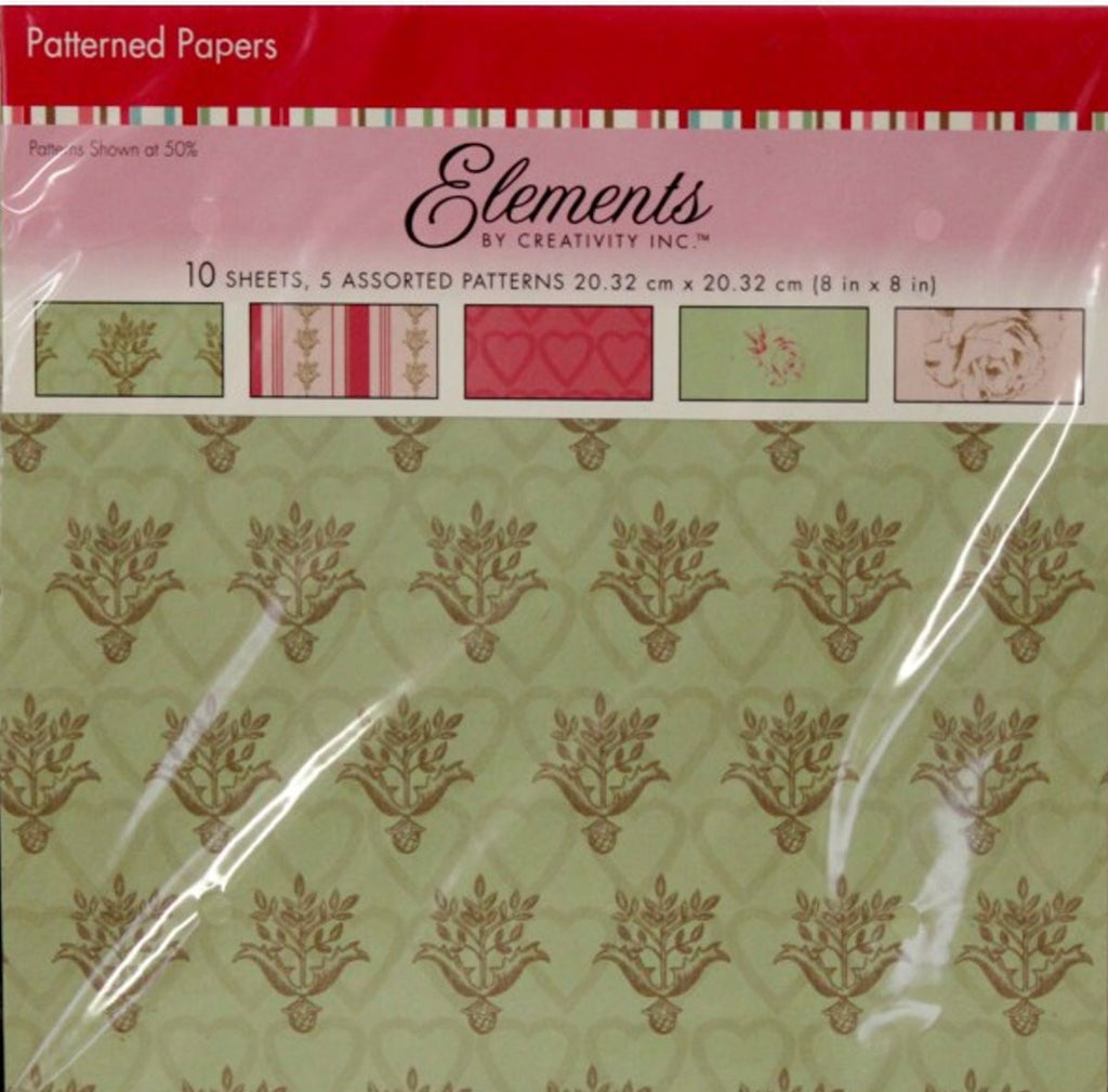 Elements By Creativity Inc.8 x 8 Love Traditional Scrapbook Paper - SCRAPBOOKFARE
