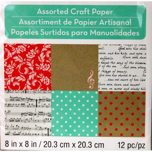 Melodies & Lace Assorted Collection #1  8 x 8 Craft Scrapbook papers - SCRAPBOOKFARE