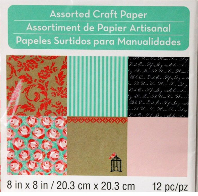 Melodies & Lace Assorted Collection #2  8 x 8 Craft Scrapbook papers - SCRAPBOOKFARE