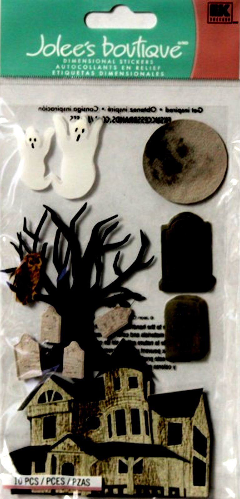 EK Success Jolee's Boutique Haunted House Dimensional Stickers - SCRAPBOOKFARE
