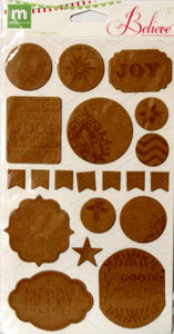 Making Memories Believe Chipboard Alterable Stickers - SCRAPBOOKFARE