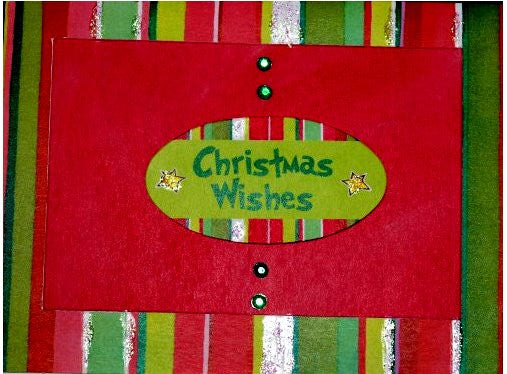 Scrapbookfare Christmas Wishes Handmade Dimensional Greeting Card