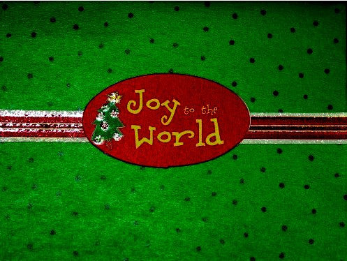 Scrapbookfare Christmas Joy To The World Handmade Dimensional Greeting Card