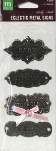 Making Memories Baby Eclectic Metal Signs Embellishments - SCRAPBOOKFARE