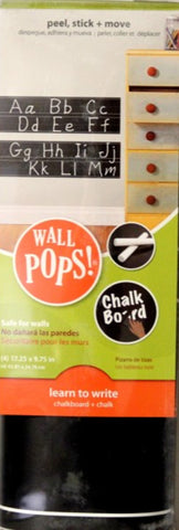 Brewster Home Fashions Wall Pops Learn To Write Chalkboard + Chalk - SCRAPBOOKFARE