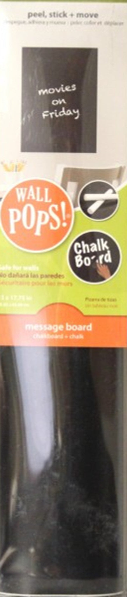 Brewster Home Fashions Wall Pops Message Board Chalkboard + Chalk - SCRAPBOOKFARE