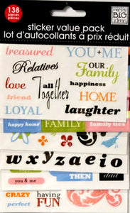 Me & My Big Ideas Nest Happiness Sticker Value Pack - SCRAPBOOKFARE