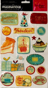 Creative Imaginations Kindness By Emma Party Birthday Epoxy Stickers - SCRAPBOOKFARE