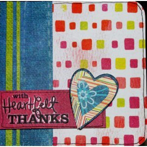 Scrapbookfare With Heartfelt Thanks Handmade Dimensional Greeting Card