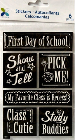 Momenta Foam Dimensional School Days Stickers - SCRAPBOOKFARE