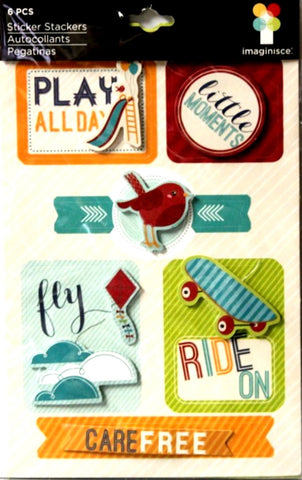 American Crafts Imaginisce Dimensional Play Time Scrapbook Stickers - SCRAPBOOKFARE
