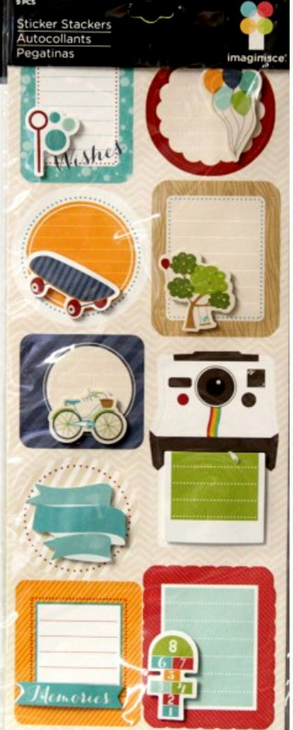 American Crafts Imaginisce Dimensional Childhood Memories Journal Stickers - SCRAPBOOKFARE