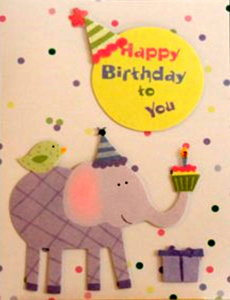 Scrapbookfare Happy Birthday To You Handmade Dimensional Greeting Card