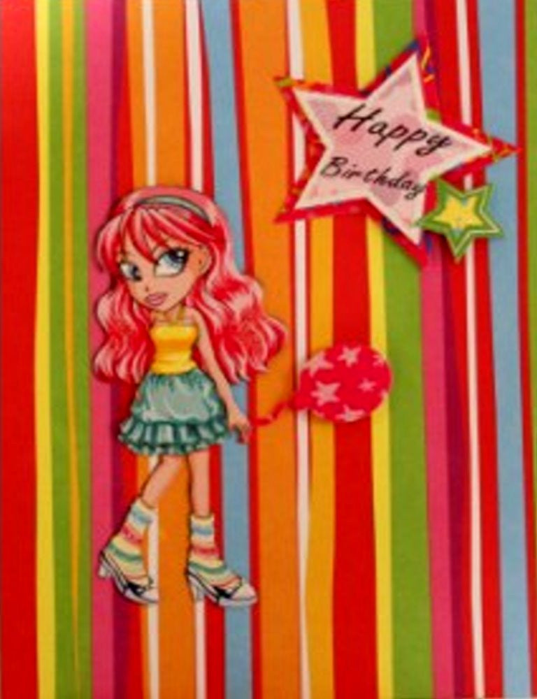 Scrapbookfare Happy Birthday Handmade Dimensional Greeting Card