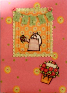 Scrapbookfare Hello & Any Occasion Handmade Dimensional Greeting Card