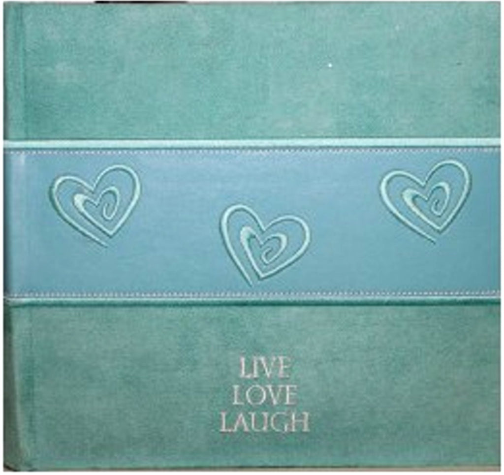 Fetco Home Decor Aqua Blue Suede Photo Album Scrapbookfare