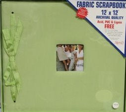 C.R. Gibson 12 x 12 Green Fabric Top Loading Scrapbook Album - SCRAPBOOKFARE