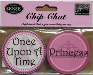 Chip Chat Once Upon A Time Chipboard Embellishments - SCRAPBOOKFARE