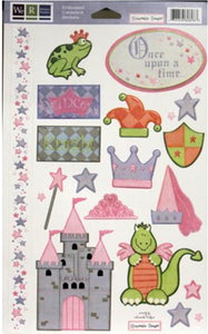 We R Memory Keepers Once Upon A Time Embossed Cardstock Stickers