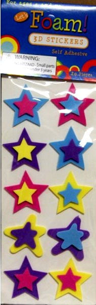 Stars Foam Dimensional Scrapbook Stickers