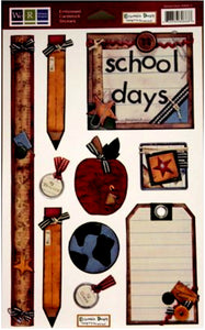 We R Memory Keepers School Days Embossed Cardstock Stickers
