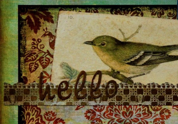 Scrapbookfare Hello Handmade Dimensional Greeting Card