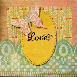 Scrapbookfare Love Handmade Dimensional Greeting Card