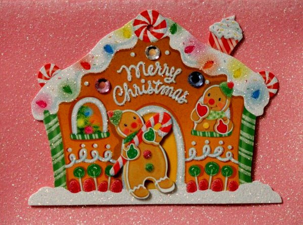 Scrapbookfare Christmas Merry Christmas Handmade Dimensional Greeting Card