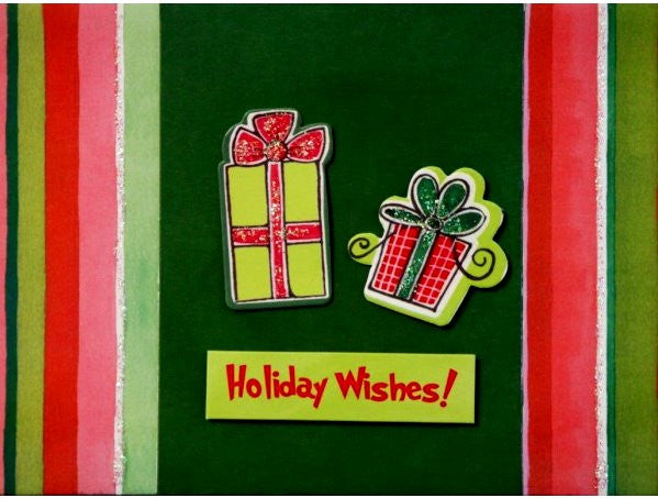 Scrapbookfare Christmas Holiday Wishes Handmade Dimensional Greeting Card