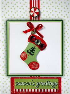 Scrapbookfare Christmas Season's Greetings Handmade Dimensional Greeting Card