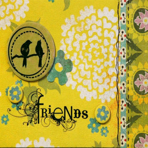 Scrapbookfare Friends Handmade Dimensional Greeting Card