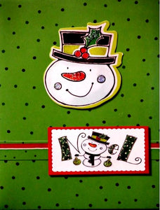Scrapbookfare Christmas Noel Handmade Dimensional Greeting Card
