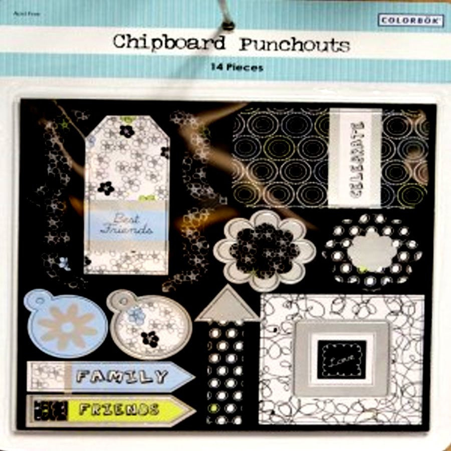 Colorbok Chipboard Punchout Embellishments - SCRAPBOOKFARE