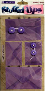 EK Success Sticko Stuffed Ups Purple Self-Adhesive Envelopes Embellishments - SCRAPBOOKFARE