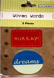 Colorbok Congratulations Woven Words Stickers - SCRAPBOOKFARE