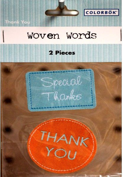 Colorbok Thank You Woven Words Stickers - SCRAPBOOKFARE